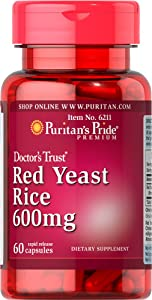 Puritan's Pride Red Yeast Rice 600 mg-60 Capsules