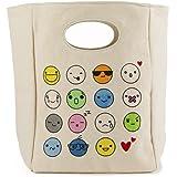 Fluf Organic Cotton Lunch Bag, Emoji
