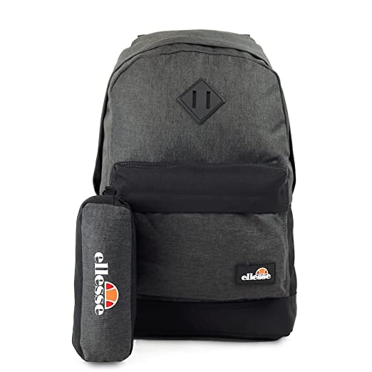 e91b2f9da582 ELLESSE Fonza Backpack Black Charcoal School Bag SHAU0484 - FREE PENCIL CASE   Amazon.co.uk  Luggage