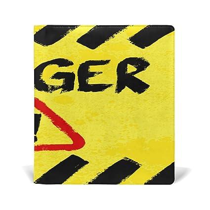 TIZORAX Grunge Danger - Cartel de advertencia elástico con ...