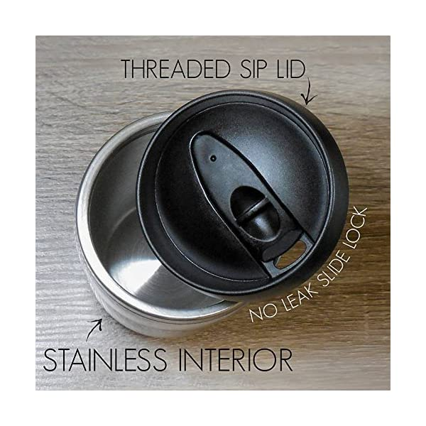 Tree-Free Greetings 25790 Eric Isselee Sloth Sip 'N Go Stainless Lined Travel Mug, 16-Ounce -