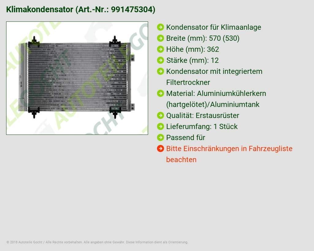 Climat Condensateur Condensateur Pour Climatisation Climat refroidisseur Citroen /& Peugeot NEUF