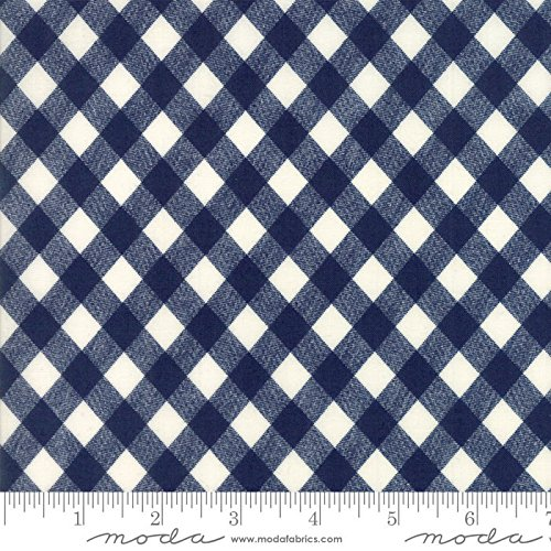 Bonnie Blue Fabrics - Basics by Bonnie and Camille Quilt Fabric Navy Picnic Check Style 55124/37