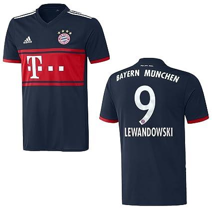adidas Bayern Away – Camiseta Hombre 2018 – Lewandowski 9, Extra-Large
