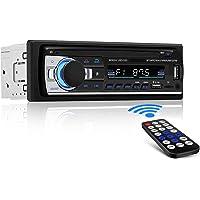 [Nuevo Version] Andven Autoradio Bluetooth, 4×60W FM Radio de Coche, Manos Libres Radio Estéreo de Coche, Apoyo Control…