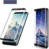 Galaxy S8 Screen Protector, Cavalrywolf Premium 3D Full Coverage Tempered Glass,[Bubble Free][HD Clear][Anti-Scratch] Screen Protector for Samsung Galaxy S8