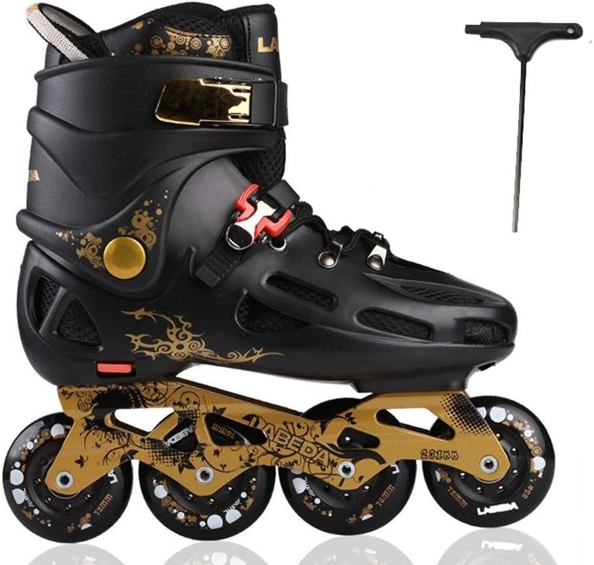 TKW インラインスケート、メンズレディース四輪ローラースケート、快適で ローラースケート、ブラックホワイト35-43ヤード (Color : 黒, Size : EU 37/US 5/UK 4/JP 23.5cm) 黒 EU 37/US 5/UK 4/JP 23.5cm