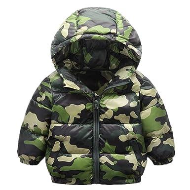 e6f72f9c8c0f Amazon.com  RACHAPE Kids Winter Hooded Down Coat Boys Camouflage ...