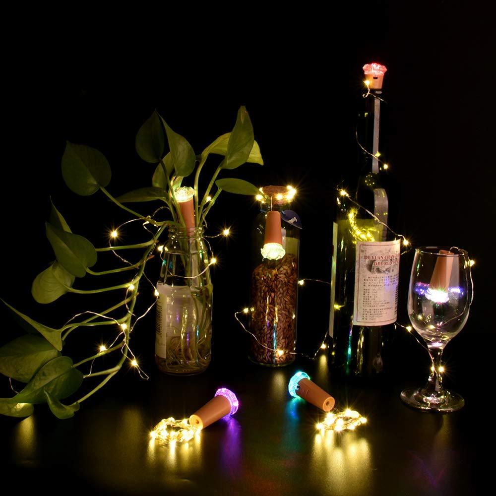 Luz de Botella 6 Corcho Luces LED con Diamantes de Colores Luces de Interior LED Vino Luce (Versión Mejorada 2019): Amazon.es: Iluminación