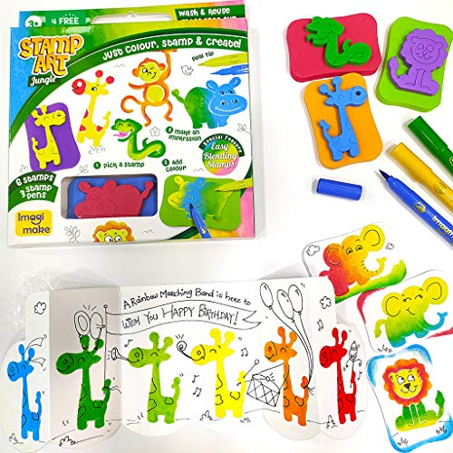 Imagimake Stamp Art – Jungle – DIY Kids Art Set – for Girls and Boys 3 Years+