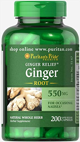 Puritans Pride Ginger Root 550 Mg, 200 Count