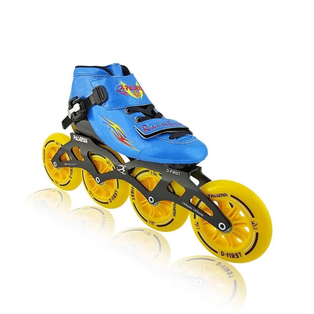 Ailj インラインスケート、 子供用4輪90MMホイール プロの単列スケート靴 初心者に適しています 3色 (色 : 赤, サイズ さいず : 36 EU/4.5 US/3.5 UK/23cm JP) B07Q74WVQ8 37 EU/5 US/4 UK/23.5cm JP|青 青 37 EU/5 US/4 UK/23.5cm JP