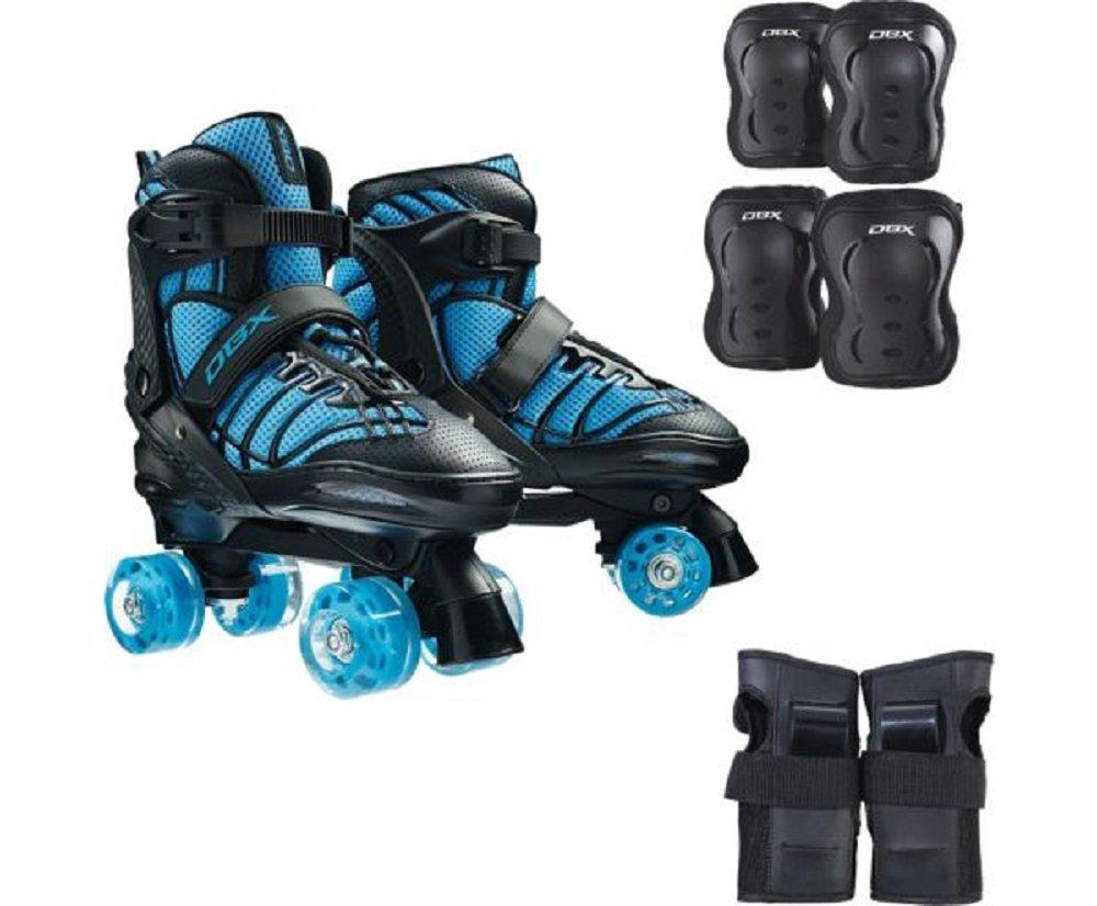 DBX Boys' Express Adjustable Roller Skate Package, Blue (Shoe Size: Large) by DBX