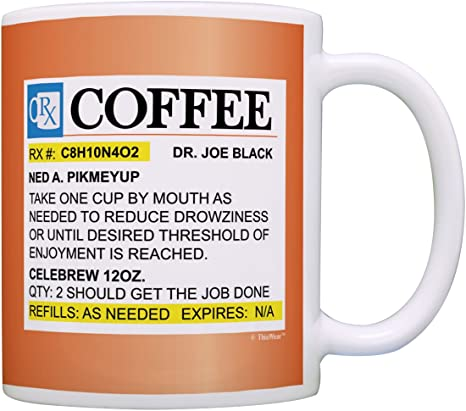 Tea Cup 12 oz Ceramic RX Coffee Mug