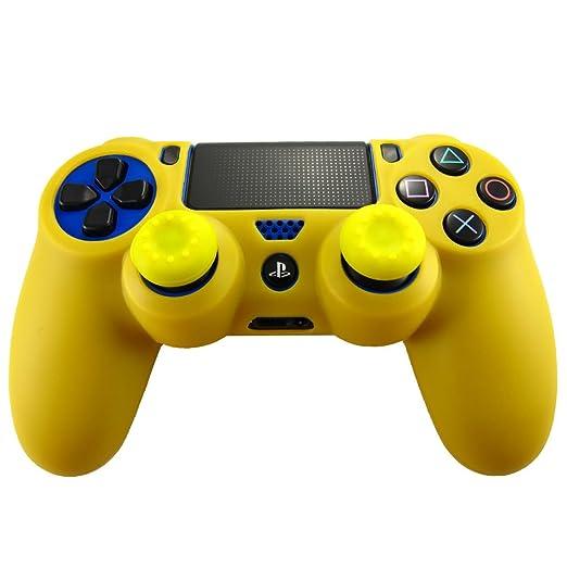324 opinioni per Pandaren® Pelle cover skin per il PS4 controller(giallo scuro) x 1 + pollice