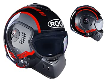 Roof Casco Boxer V8, LP20 Negro Red, Talla L