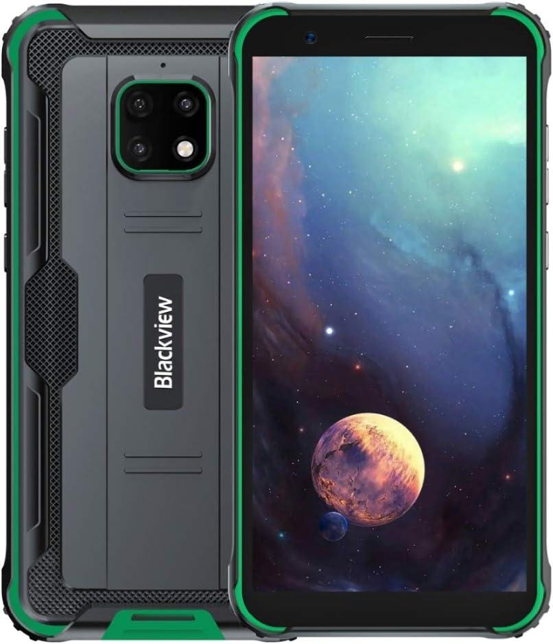Blackview BV4900 Outdoor Smartphone Ohne Vertrag, IP68 Robust Handy Android 10, 3 GB RAM 32 GB ROM 256 GB Erweiterung, 5 MP+8 MP wasserdichte Kamera, NFC Dual SIM, 5580mAh Akku Reverse Charge