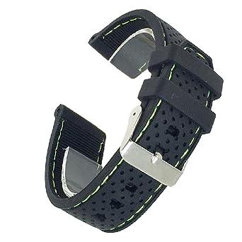 4288fad3d0 ドノロロジオ)DonOrologio選べる6色 腕時計 シリコン ベルト 22mm 直カン ラバー バンド ステッチ 蒸れ