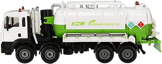 Terrarum 1, 50 Escala Diecast Modelo de aspiradora de Drenaje de Agua camión de succión Modelo de Juguete de envío – Blanco, Color Blanco: Amazon.es: Jardín
