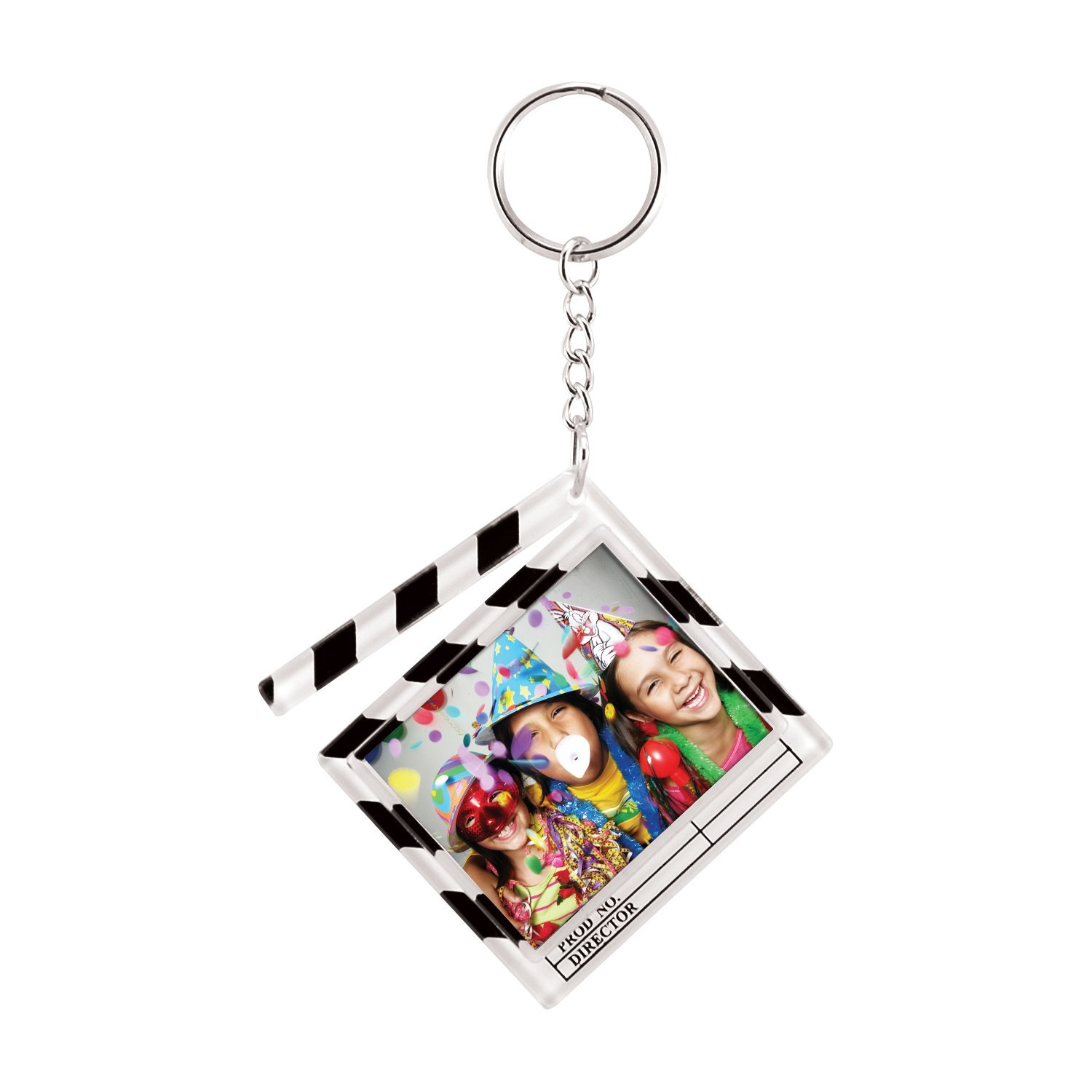 1-3/8'' x 1-3/4'' Clapboard Photo Keychains - Pack of 144 by Neil Enterprises
