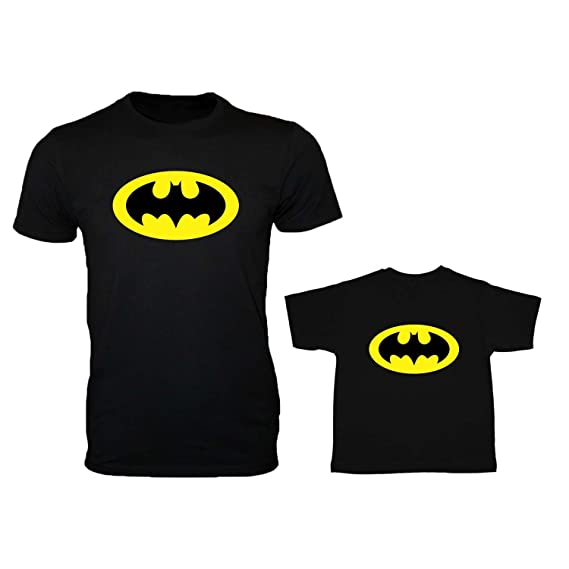 88a31dca YaYa cafe Family T-Shirts Fathers Day Combo Batman for Dad Son Set of 2