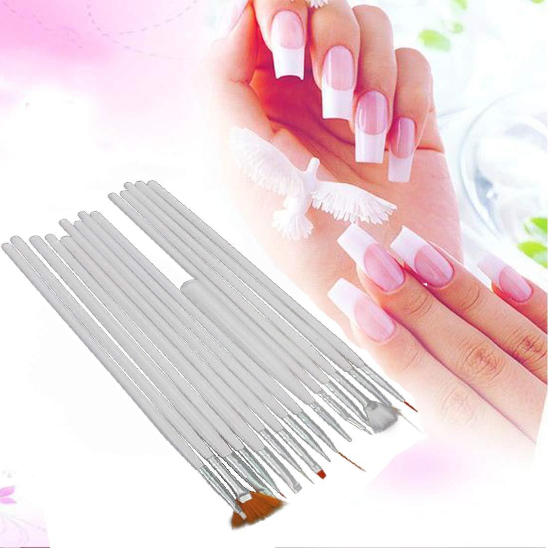 Buy Genuine 15pcs White Nail Brush Painting Pen Design Tool Set Nail Art Uv Gel Nail Polish For Diy Salon Manicure Nail Gel Polish Draw Tool Online At Low Prices In India