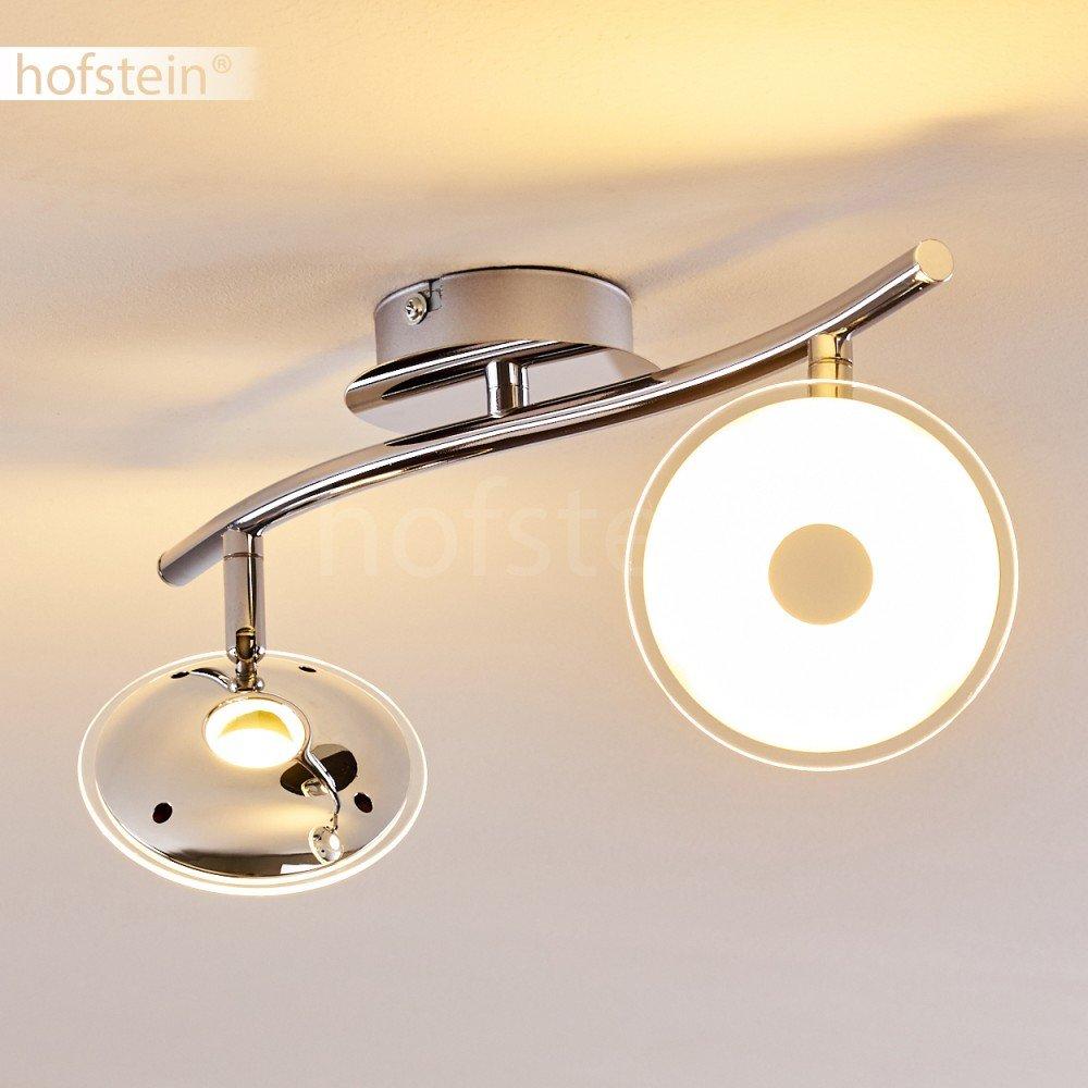 LED Deckenleuchte Ibex aus Metall in Chrom – LED Zimmerlampe 2 ...