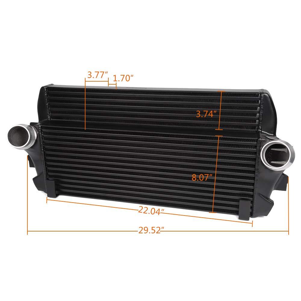 Full Aluminum Fits For BMW F01//06//07//10//11//12 Competition Intercooler Kit Black OEM Part Number 200001069