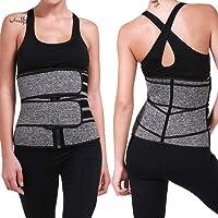 Espartilho esportivo com modelador de cintura, cinto abdominal, cinto de suor, cinto de suor para queima de gordura e…