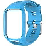xluckx del cinturino orologio da polso bracciale, morbido silicone sostituzione Band attività fitness sport bracciale chiusura TomTom 2/3Series runner Spark/Spark 3/2/runner 3/Golf 2/Adventurer