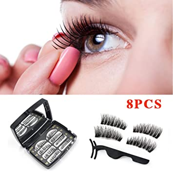 c0f64bf61e5 Sunnycows Magnetic False Eyelashes- Ultra Thin Lightweight & Easy to Wear  Best 3D Reusable Eyelashes
