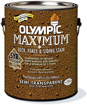 Olympic 79550a 01 Semi Stain Oil Based Household Wood Stains Amazon Com