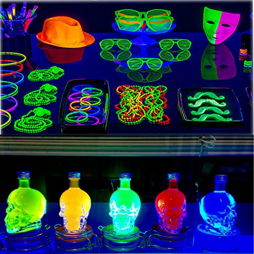 UV LED Black Light Fixtures, Leciel 6W Portable Blacklight Lamp for UV Poster, UV Art, Ultraviolet Curing, Authentication Currency or Stain Detector by LECIEL (Image #5)