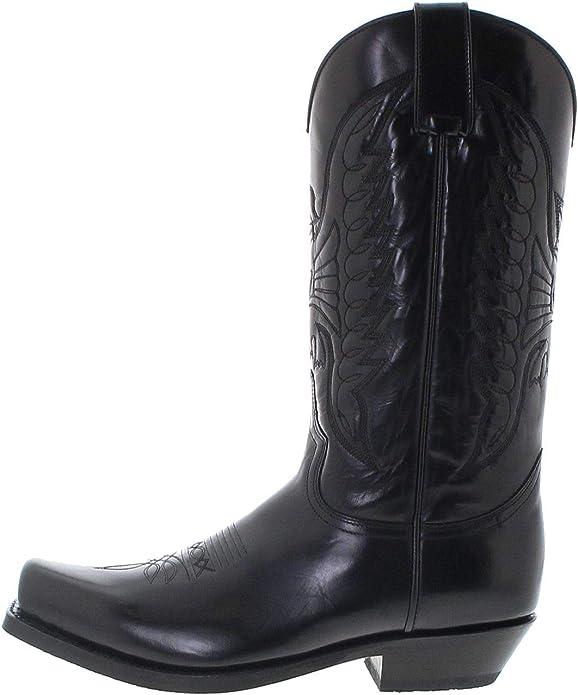 Sendra Boots 2073-58 Unisex Cowboystiefel Lederstiefel Westernstiefel Schwarz