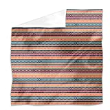 Tribal Mix Flat Sheet: King Luxury Microfiber, Soft, Breathable