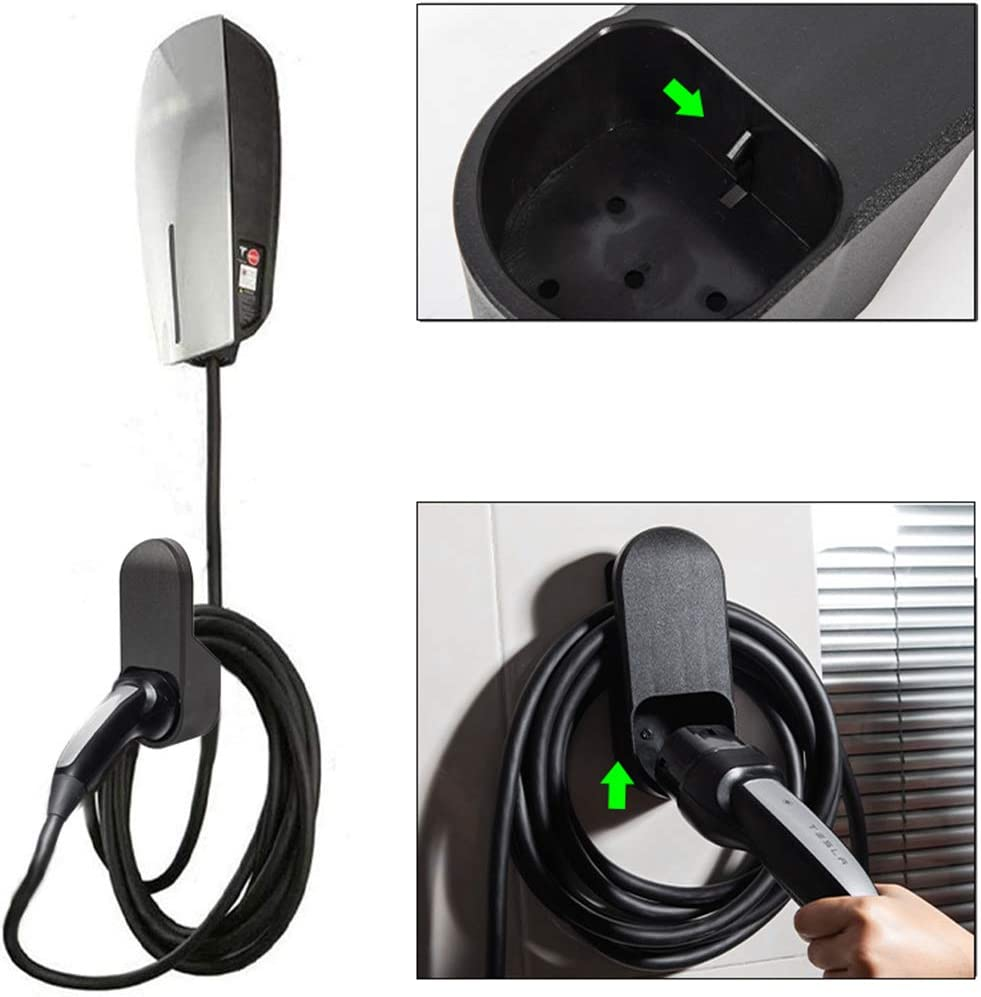 No Need to Drill Motrobe Tesla Cable Organizer Wall Connector Charger Bracket for Model 3 Model Y Model S Model X