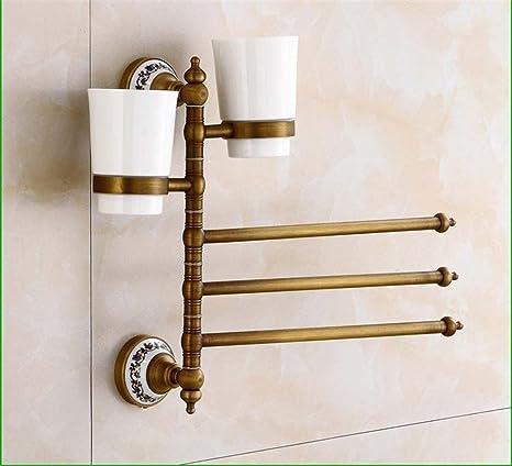 MIAORUI Todos los Colgantes de Cobre de Hardware baño, Antiguos de Porcelana Blanca y Azul