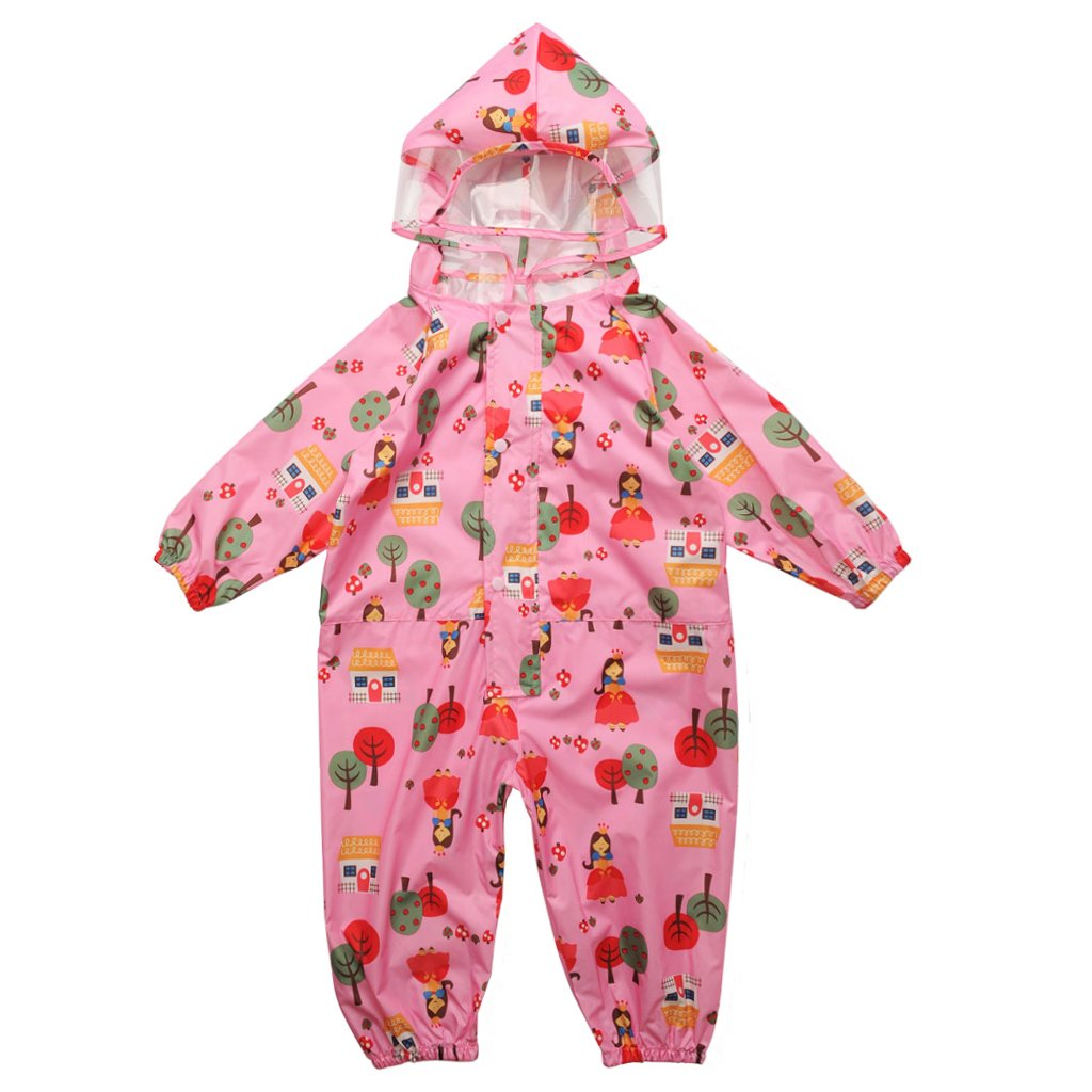 Vine Kids One Piece Rainsuit Coverall Baby Waterproof Jumpsuit (1 - 7 years) B171026YY211V