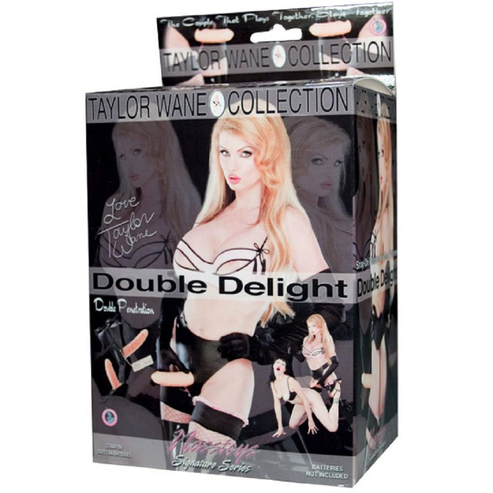 Taylor Wane Double Delight Vibrating Harness Includes a Free Bottle of Adult Toy Cleaner