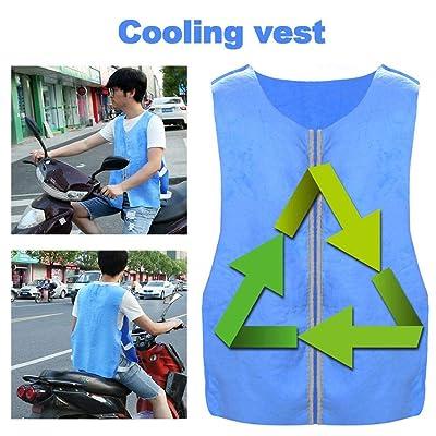 AEROBATICS-Sports Cooling Vest - Gilet De Refroidissement pour Hommes en Été - Gilet De Refroidissement pour Adultes - Gilet De Protection Contre Les Rayons du Soleil - Gilet De Sport pour Moto Sports et Loisirs