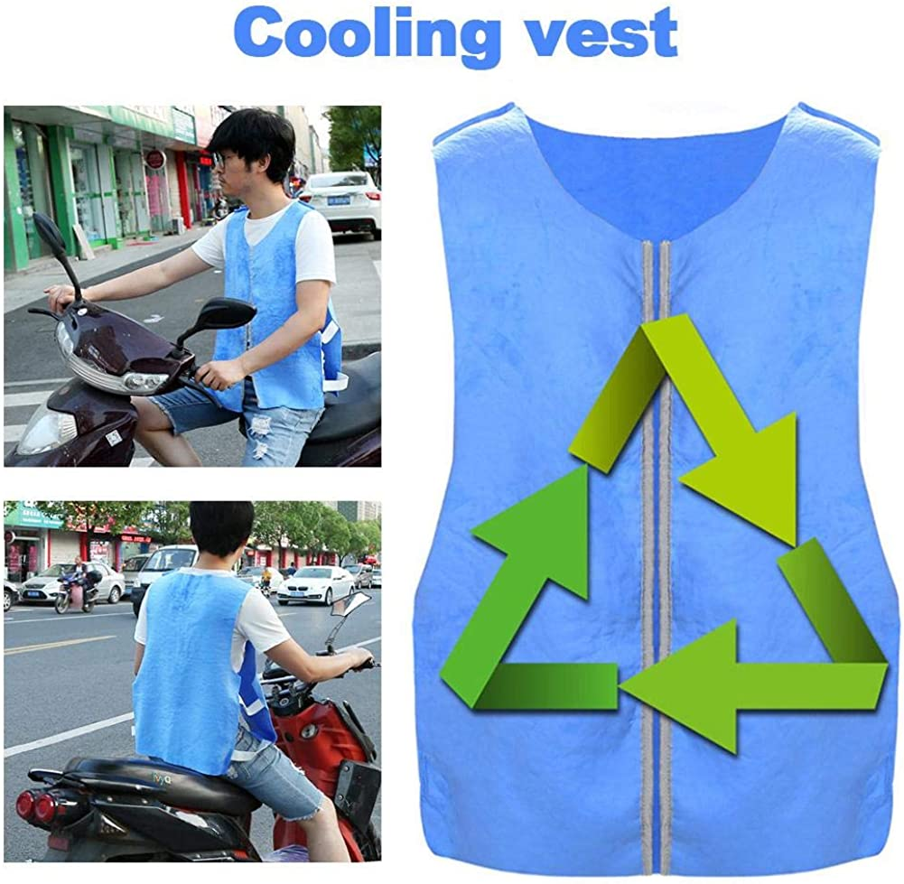 Snowshow Men's and Women's Summer Magic Ice Cooling PVA Vest Recyclable Sports Fast Cool Vestwear for Outdoor Work High Temperature Protective Clothing Boosted