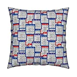 Roostery Bingo Organic Sateen Throw Pillow Cover Single Bingo Cards by Dd BAZ Cover Only