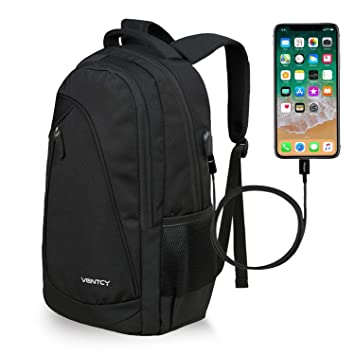 VENTCY 15.6 Inch Laptop Backpack Womens Mens Rucksack Boys Backpack School  Daypack Student College with USB 3e4910eeac