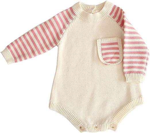 6 mois Bébé filles en tricot à rayures Cardigan Nouveau-Né