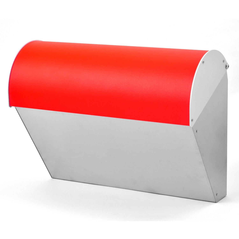 LEON (レオン) ビバリー 人気 郵便ポスト 壁掛けタイプ ステンレス製 おしゃれ 大型 北欧 かわいい メール便対応 防水 ポスト 郵便受け レッド B076W97HTT 19980 レッド レッド