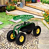 Apontus Garden Cart with Heavy Duty Tool Tray - Green