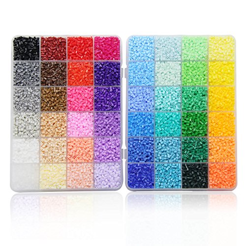 - ARTKAL Mini Hard Beads C 2.6mm 24,000 Fuse Beads 48 Colors Assorted in 2 Boxes CC48 (It's Mini Beads NOT Standard MIDI Beads)