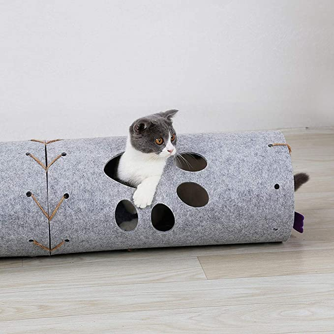Amazon.com: Xligo 45cm Pet Cat Collapsible Tunnel Toys Outdoor Cats Training Toy DIY Stitching for Cats Interactive Foldable Tunnel Tubes Pet Toy: Home & ...