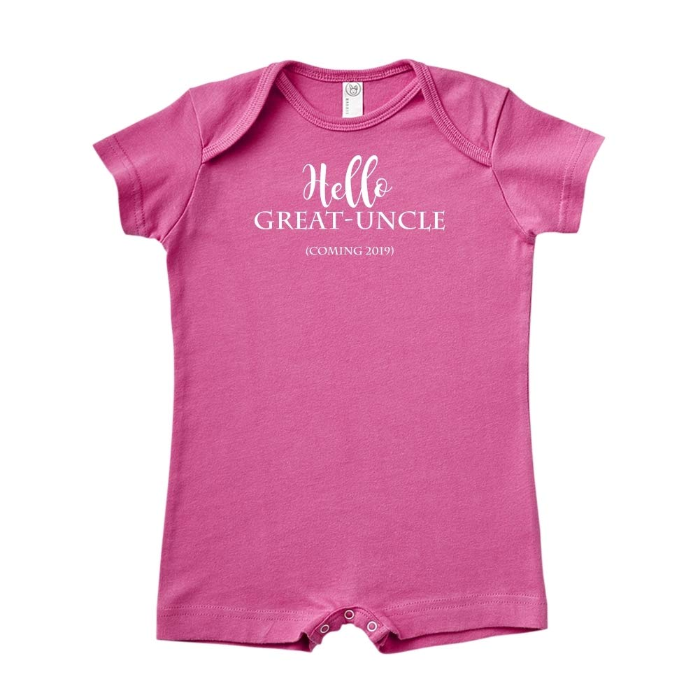Baby Romper Announcement Coming 2019 Hello Great-Uncle