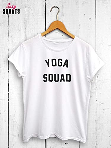 Amazon.com: Yoga Squad Womens Tshirt - Yoga Shirt, Yoga Gym ...